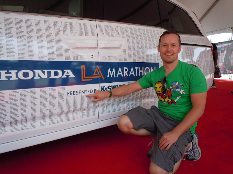 LA Marathon Honda car names 2011