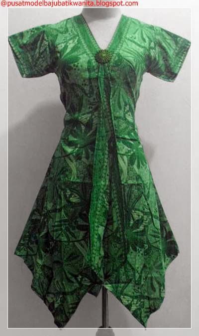 Model baju batik kerja wanita terbaru  Gambar Model Baju Batik