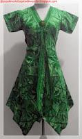 model baju batik kombinasi polos hijau