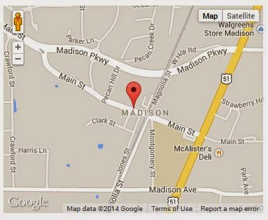 Map to Go See My Pottery at Persnickety of Madison,MS