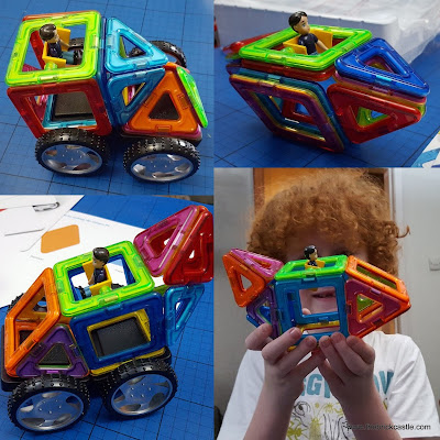 3D vehicles with magnetic shapes Magformers review
