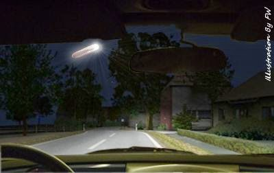 Hovering UFO Vanishes in Front of Witness