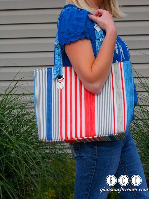 Totes Ma Tote (pattern by emmmalinebags) sewn by GCC:ginascraftcorner.com