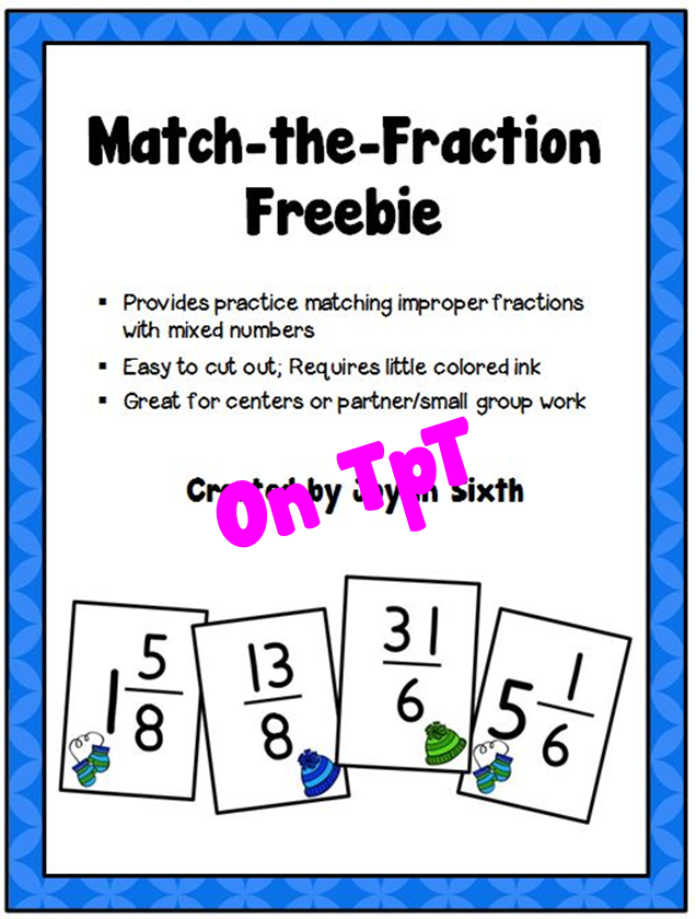 http://www.teacherspayteachers.com/Product/Match-the-Fraction-A-Freebie-1626123
