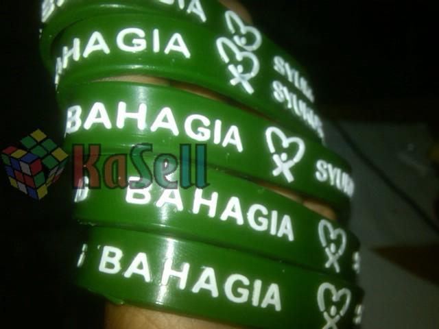 Gelang Karet Rubber Promosi BAHAGIA 300pcs