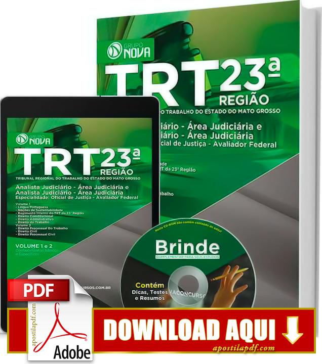 Apostila TRT MT 2015 PDF Download Grátis Oficial de Justiça