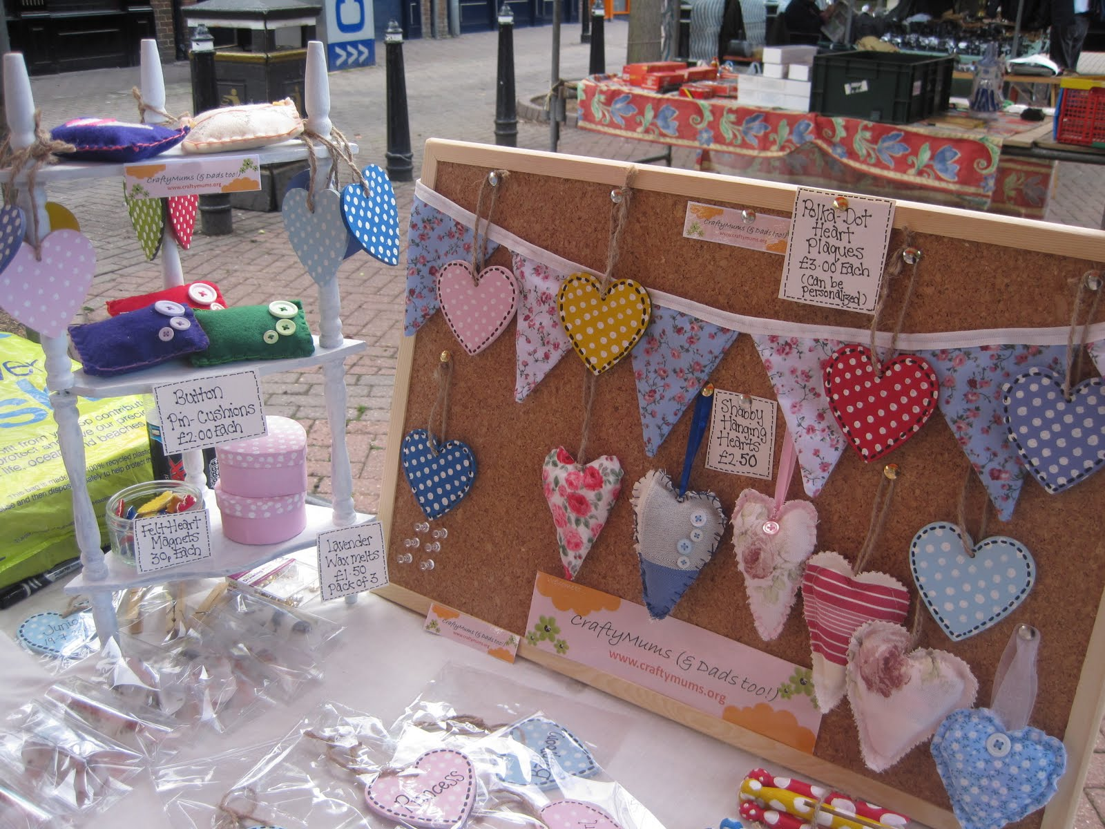 how to set up for a craft stall