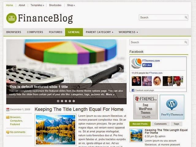 FinanceBlog - Free Wordpress Theme