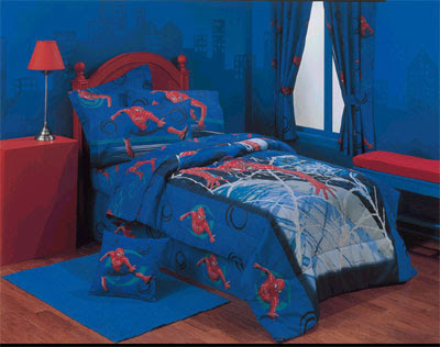 Home furniture ideas attractive spiderman theme bedroom decorate designs for kids boys - Spiderman decorating ideas bedroom ...