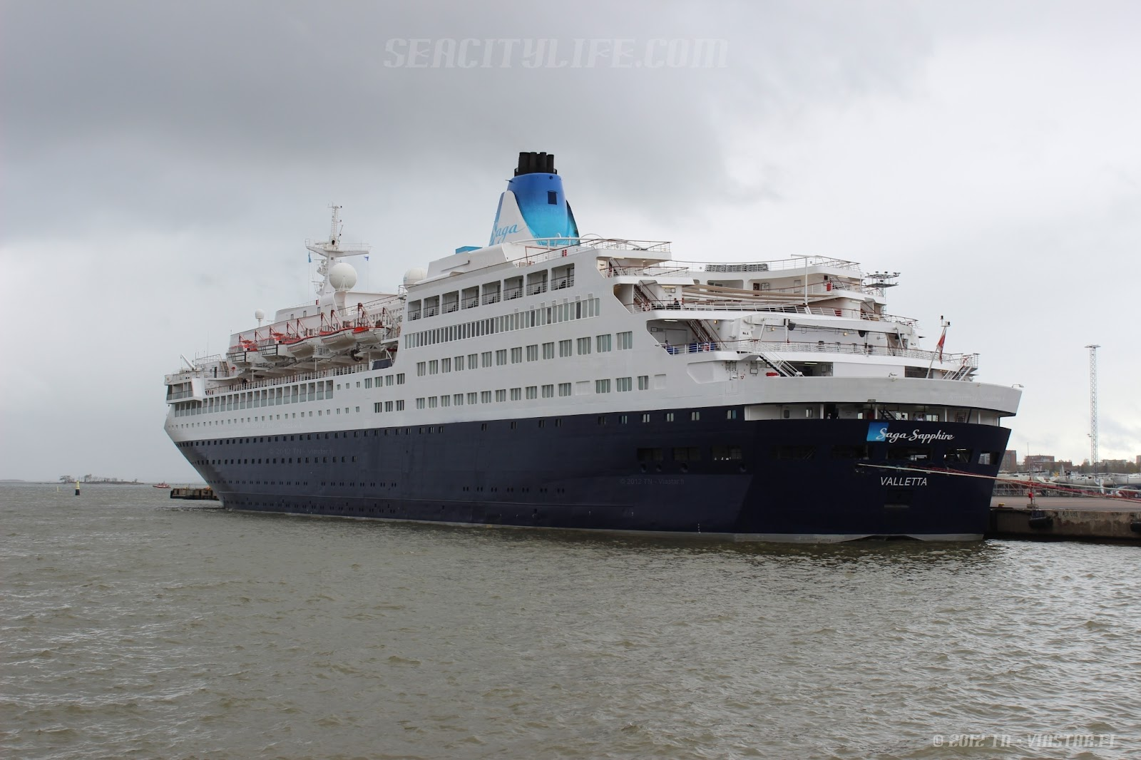 MS Saga Sapphire In Port Of Helsinki  Ship Pictures