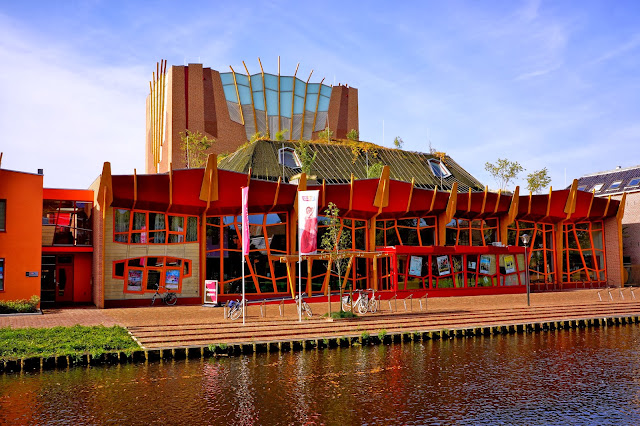The building of theater Sneek. Sneek, the Netherlands.