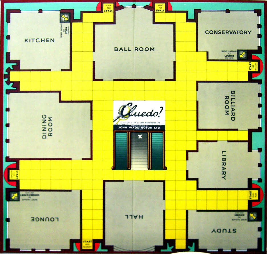 dave wrote this it s all fun games the murder mystery board game cluedo rhymes with ludo renamed clue in the usa because ludo is apparently called parcheesi there and clarcheesi would be a