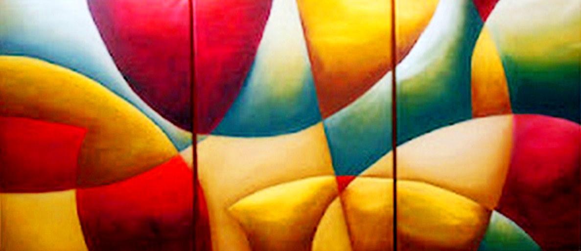 Cuadros pinturas oleos cuadros tr pticos - Pintura comedor moderno ...
