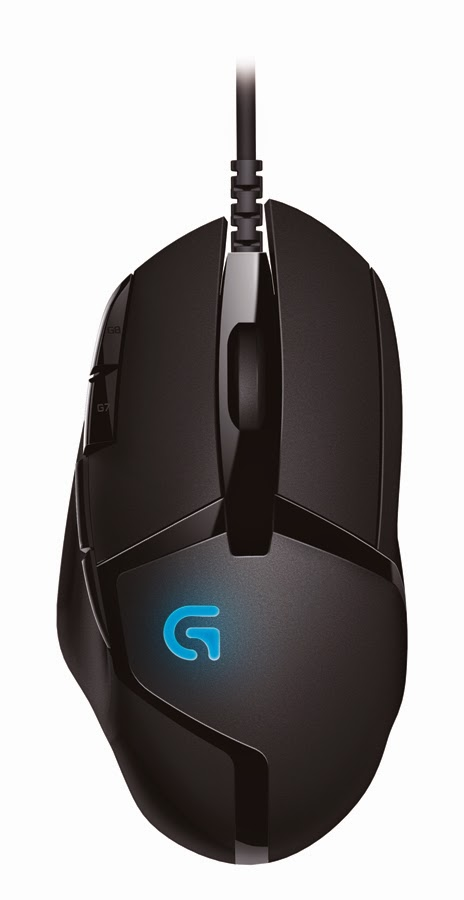 Logitech G402 Hyperion Fury Ultra-Fast FPS Gaming Mouse - top view