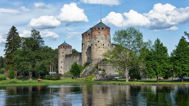 Olavinlinna Castle in Savonlinna, Finland.