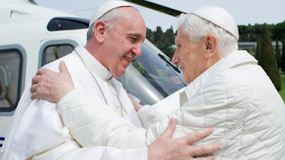 Francis, Benedict and a helicopter