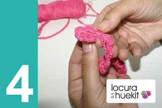 4. Paso a paso flor crochet en relieve