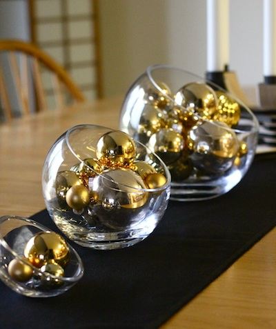Ashbee Design New Years Centerpiece Gold And Black