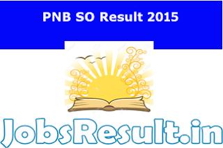 PNB SO Result 2015