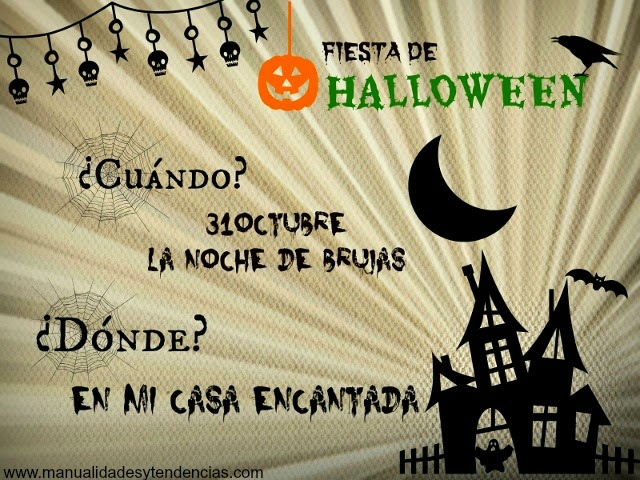 Invitaciones fiesta halloween - Fiesta halloween en casa ...