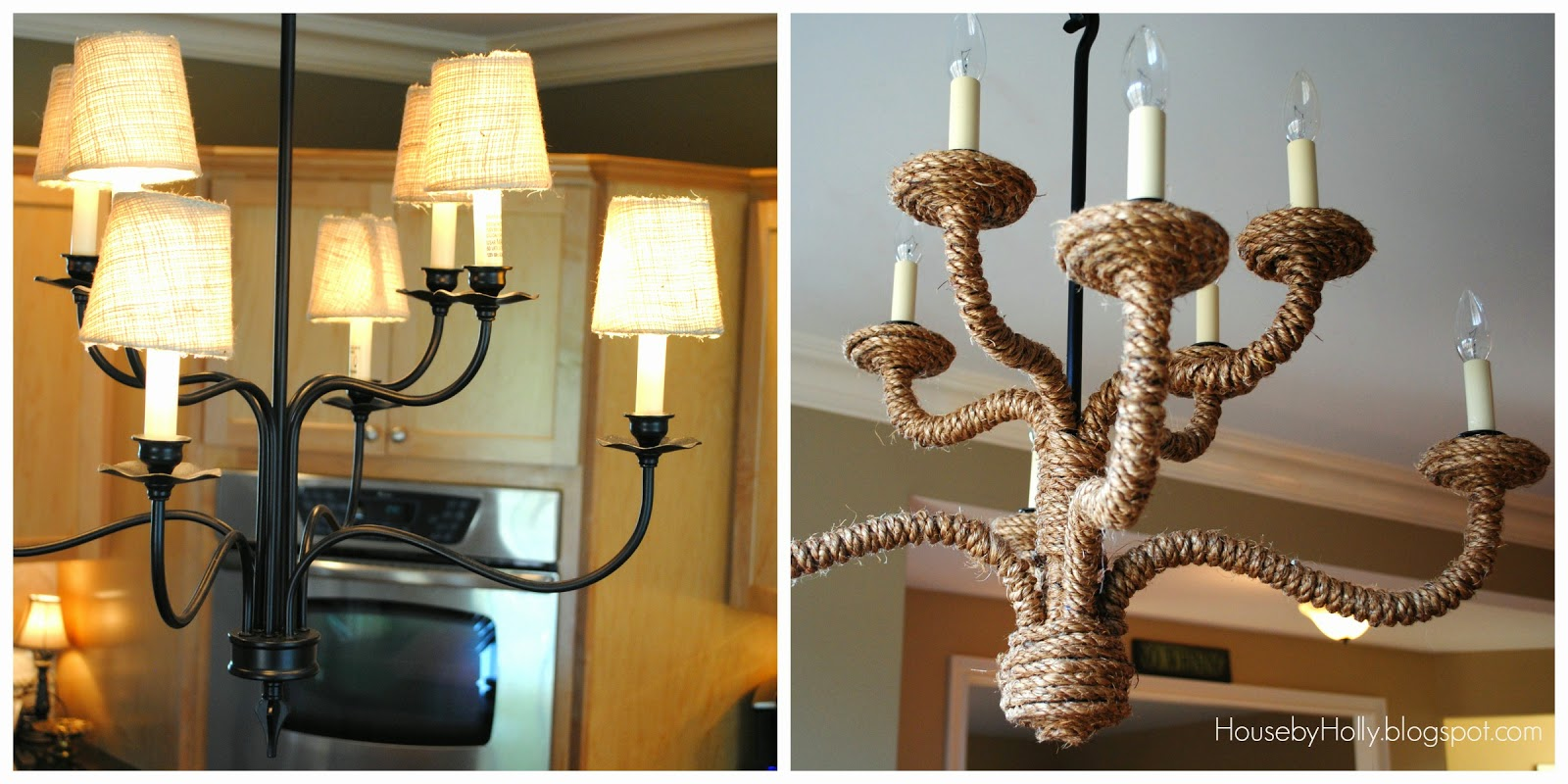 House by holly diy rope chandelier a kitchen update arubaitofo Gallery