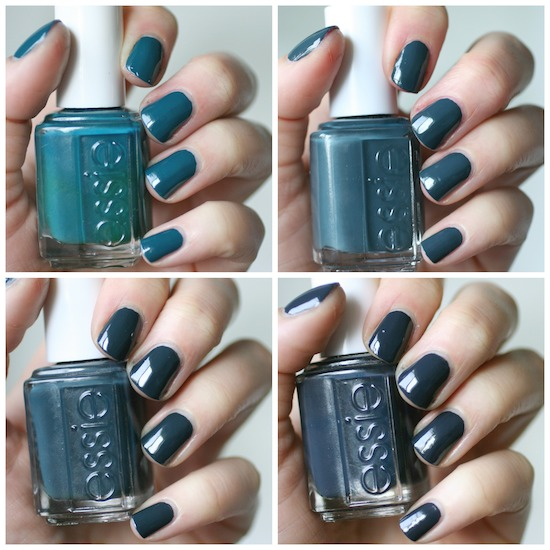 Essie Dark Teal Comparison Go Overboard The Perfect Cover Up Mind Your Mittens Bobbing For Baubles Envy