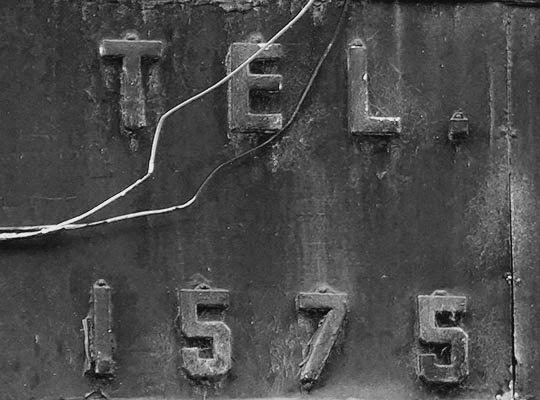 telephone number, urban, black and white, photography,