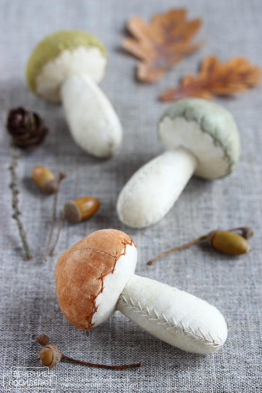 Выкройка грибов. Как сшить игрушку гриб своими руками / Мастер 37