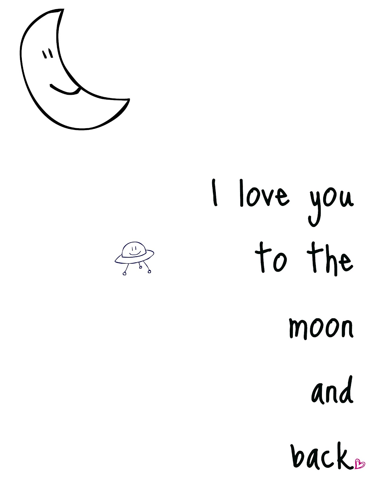 Quote I Love You To The Moon And Back Craftplaylove Rawr Means I Love You
