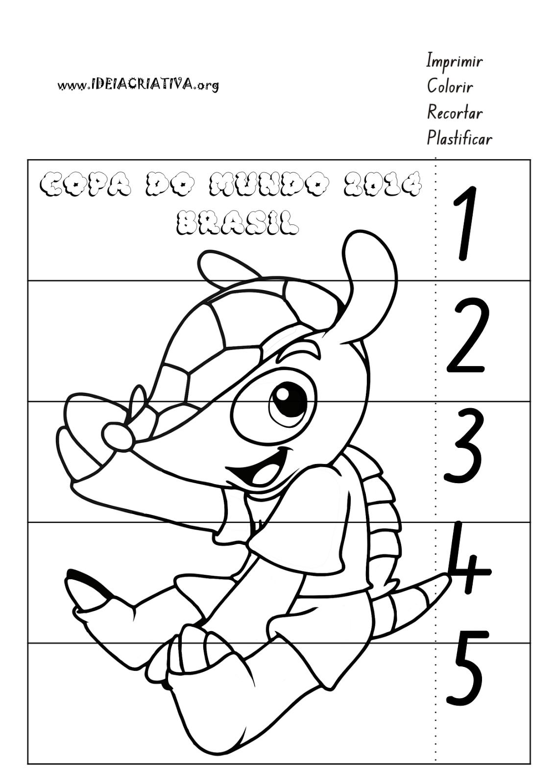Puzzle Mascote Copa do Mundo