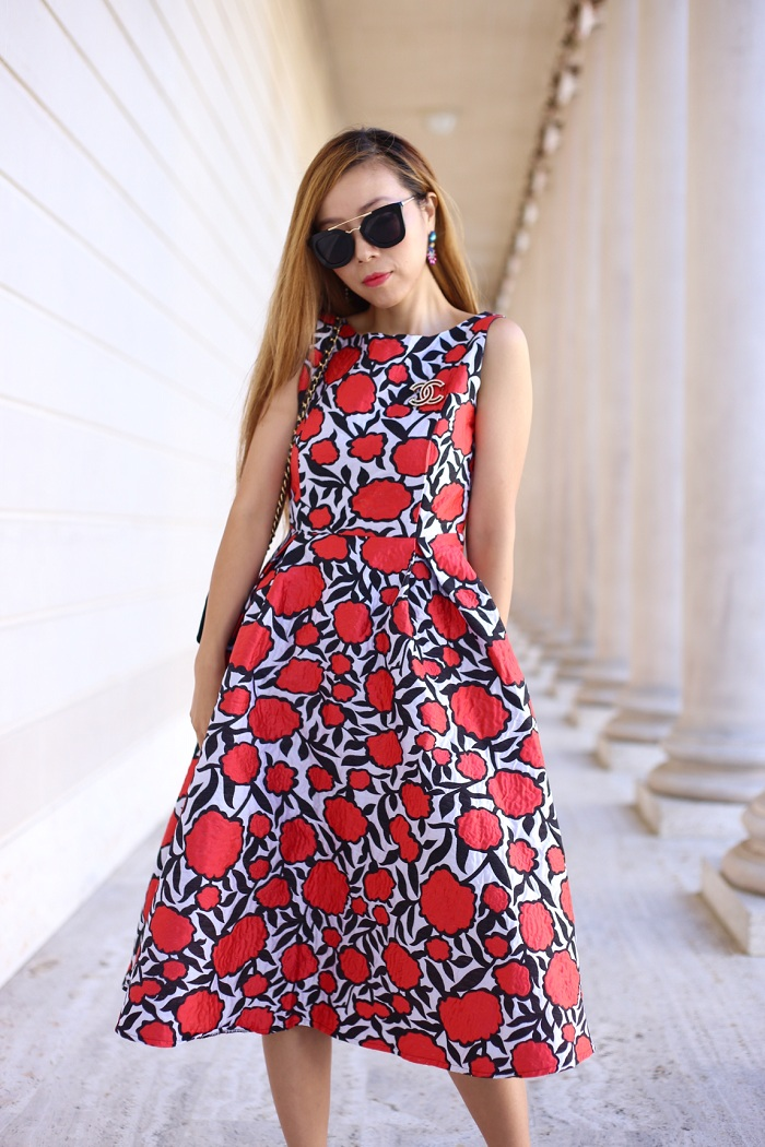 chicwish rose my heart dress, wedding guest dress, date night dress, weekend attire, schutz shoes, prada retro sunglasses, chanel bag, hermes bracelet, baublebar earrings, fashion blog, nyc blogger, street style, san francisco