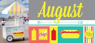 Calendario para imprimir e montar Agosto 2012