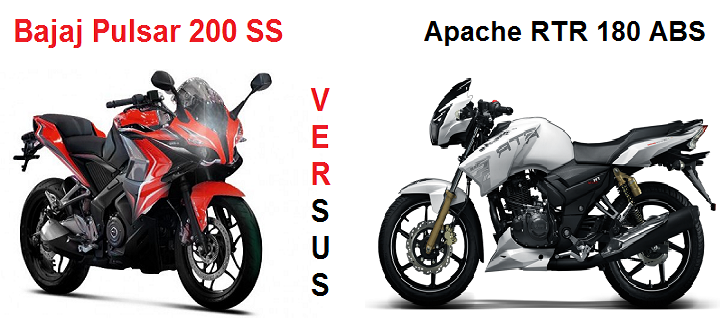 Pulsar 200 SS Vs Apache RTR 180 ABS - Comparative Fight ...