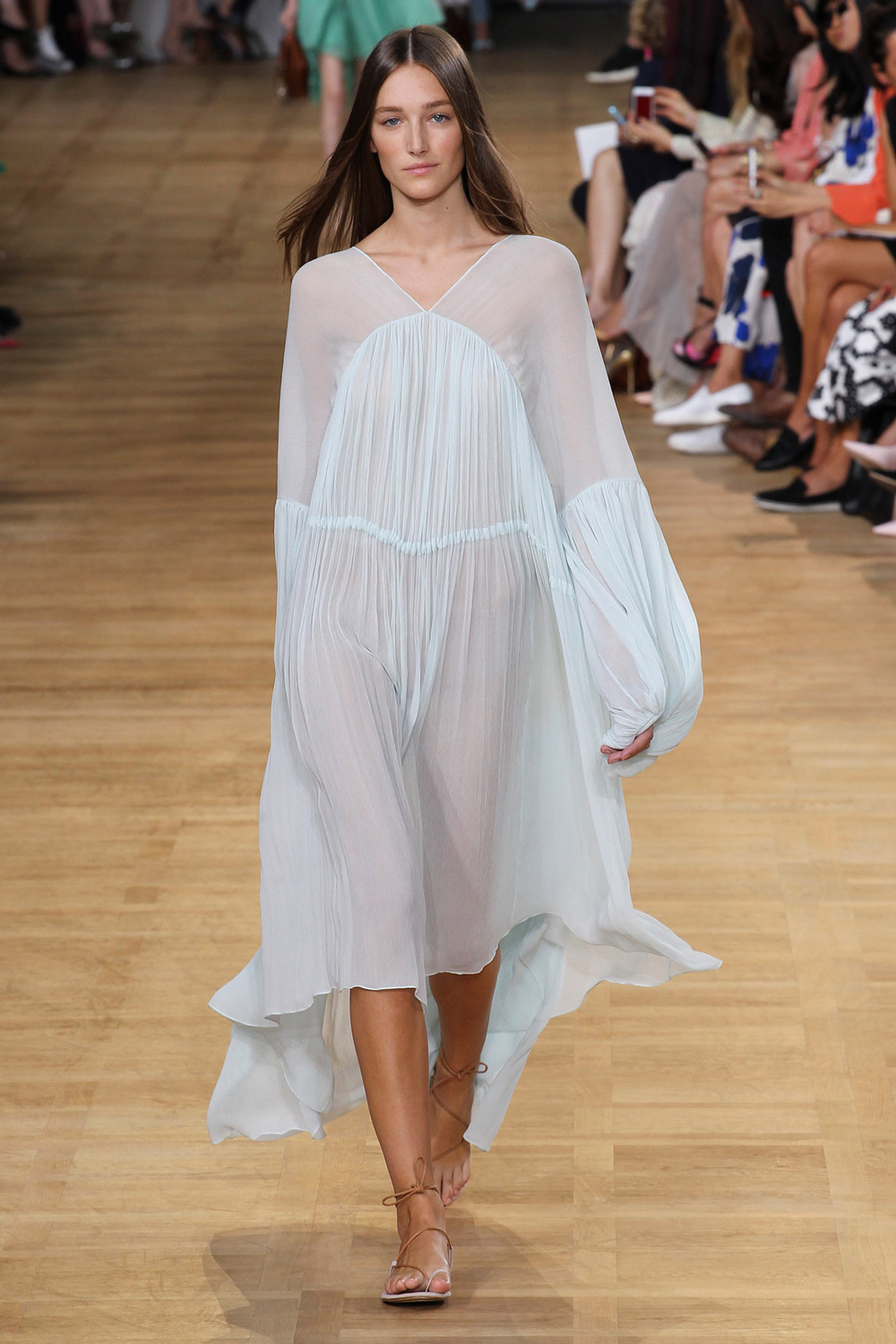 Pantone Colour Report Spring 2015 trends / aquamarine / how to wear aquamarine / outfit ideas / fashion collections S/S 2015 / Chloe Spring 2015 / via fashioned by love british fashion blog