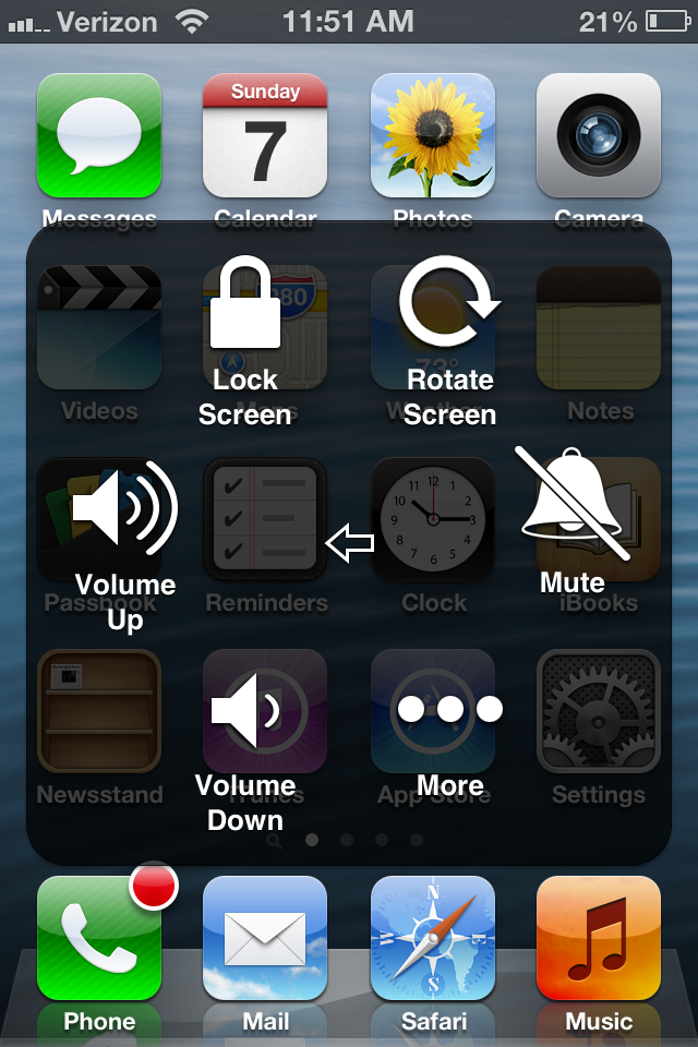 how to use assistive touch ios 5 iphone 6