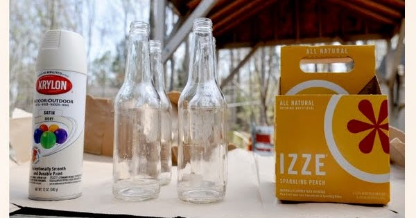 D.I.Y. Centro de mesa con botellas de cristal