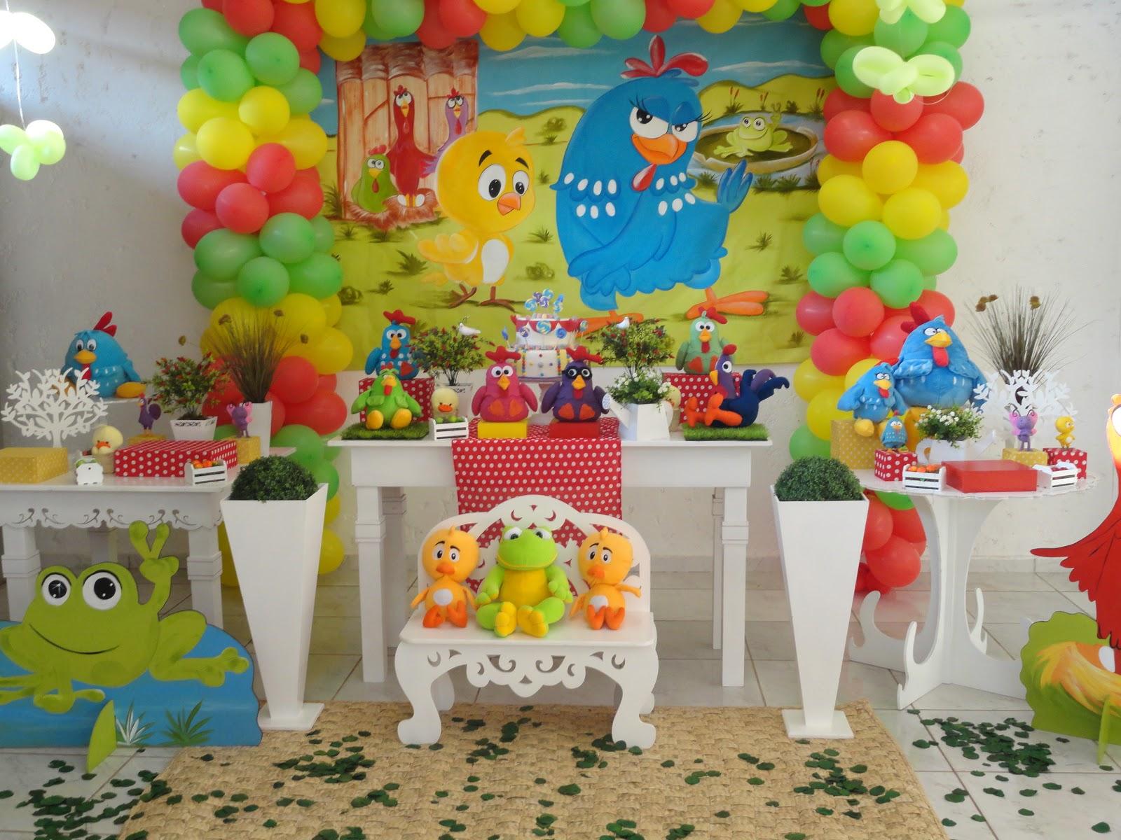 Lidiane Decoração infantil TEM FESTAS 34236880 GALINHA PINTADINHA