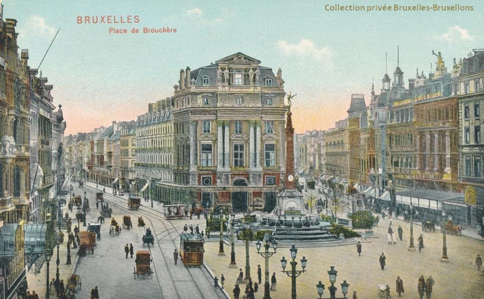 Place de Brouckère (Début des années 1900) - Bruxelles-Bruxellons