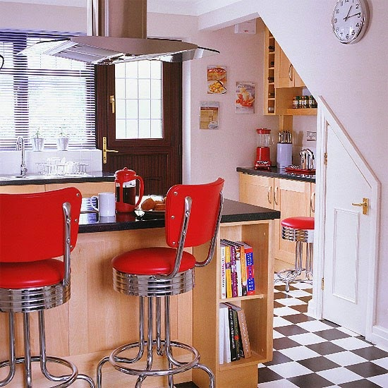 Red Wall kitchen