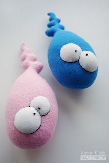 Сперматозоид - прикольная мягкая игрушка ручной работы.