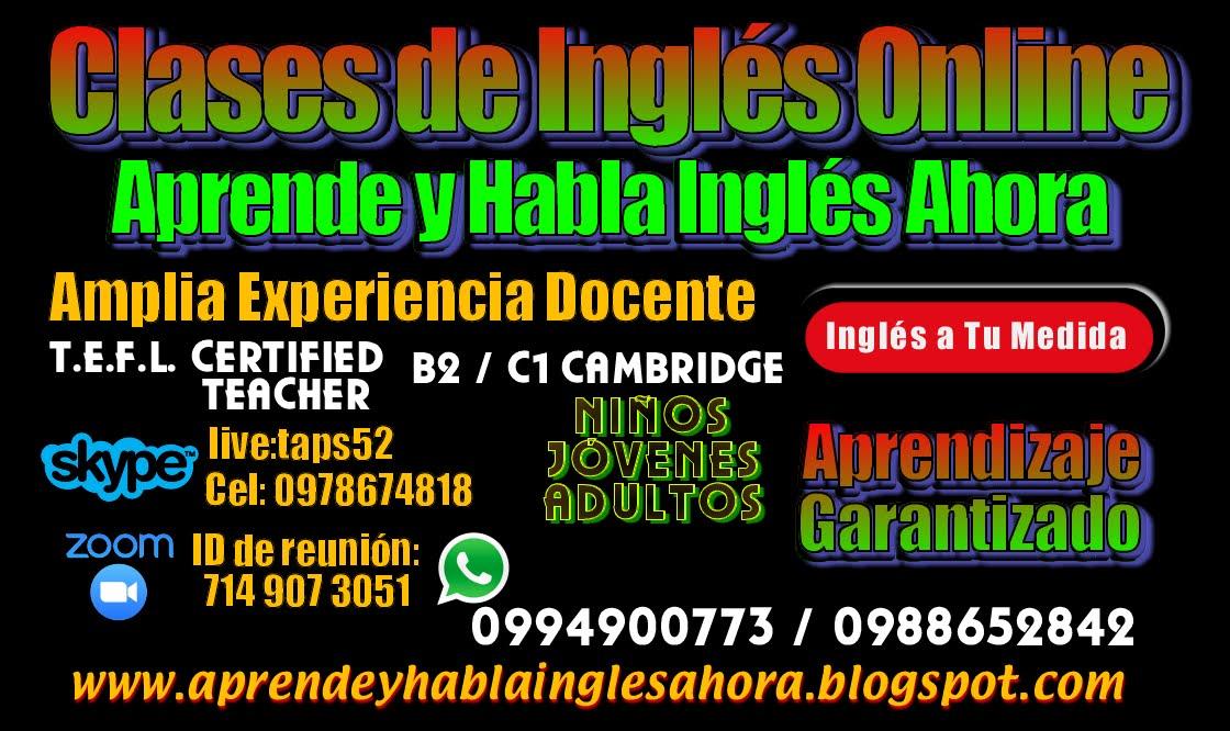 Clases de Ingles Guayaquil, Cursos de Ingles Guayaquil, Profesor de Ingles, Traducciones
