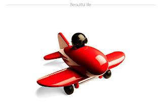 Pequeño avión con piloto