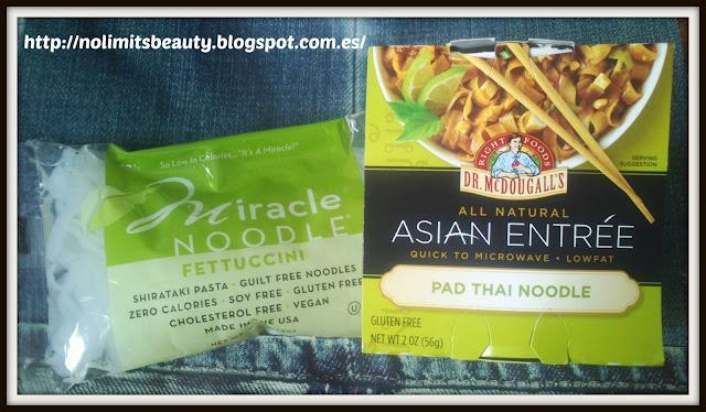 Miracle Noodle, Shirataki Pasta, Fettuccini, 7 oz (198 g) - Dr. McDougall's, Asian Entree, Pad Thai Noodle, 2 oz (56 g)