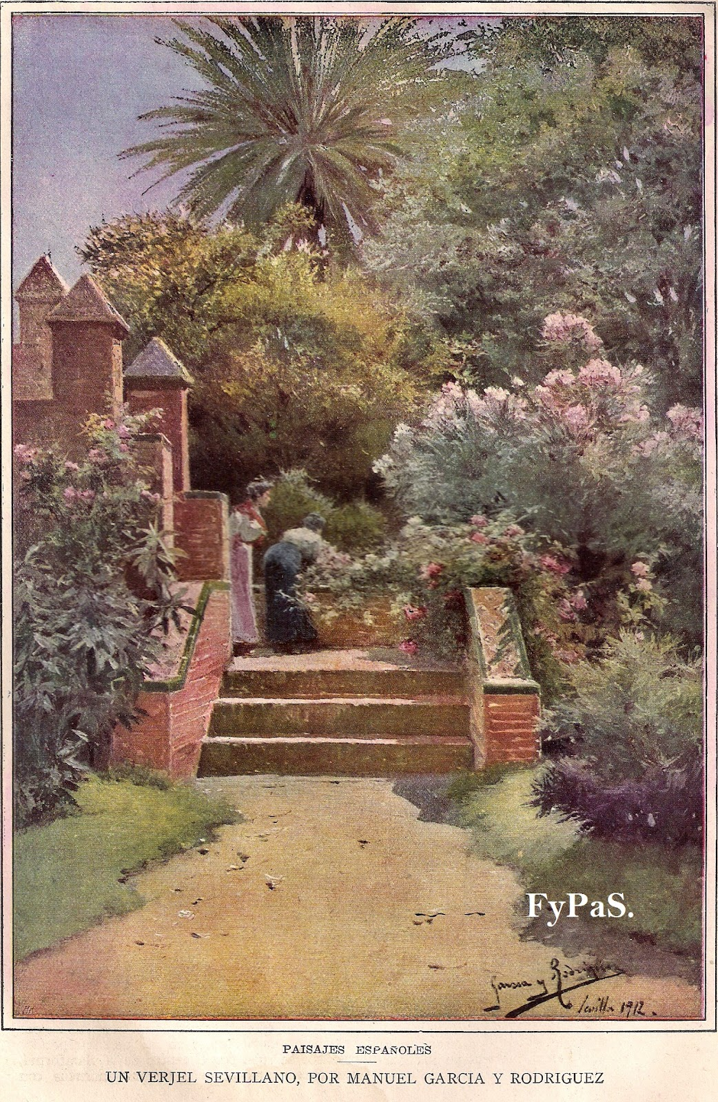 Fotos y postales antiguas de sevilla jardines y monumentos de sevilla - Jardines de sevilla ...