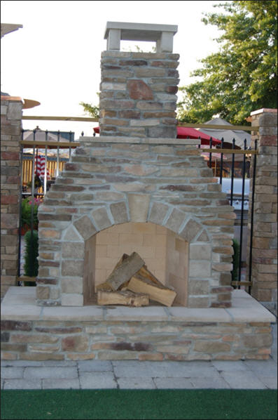 Rochester Outdoor Fireplace