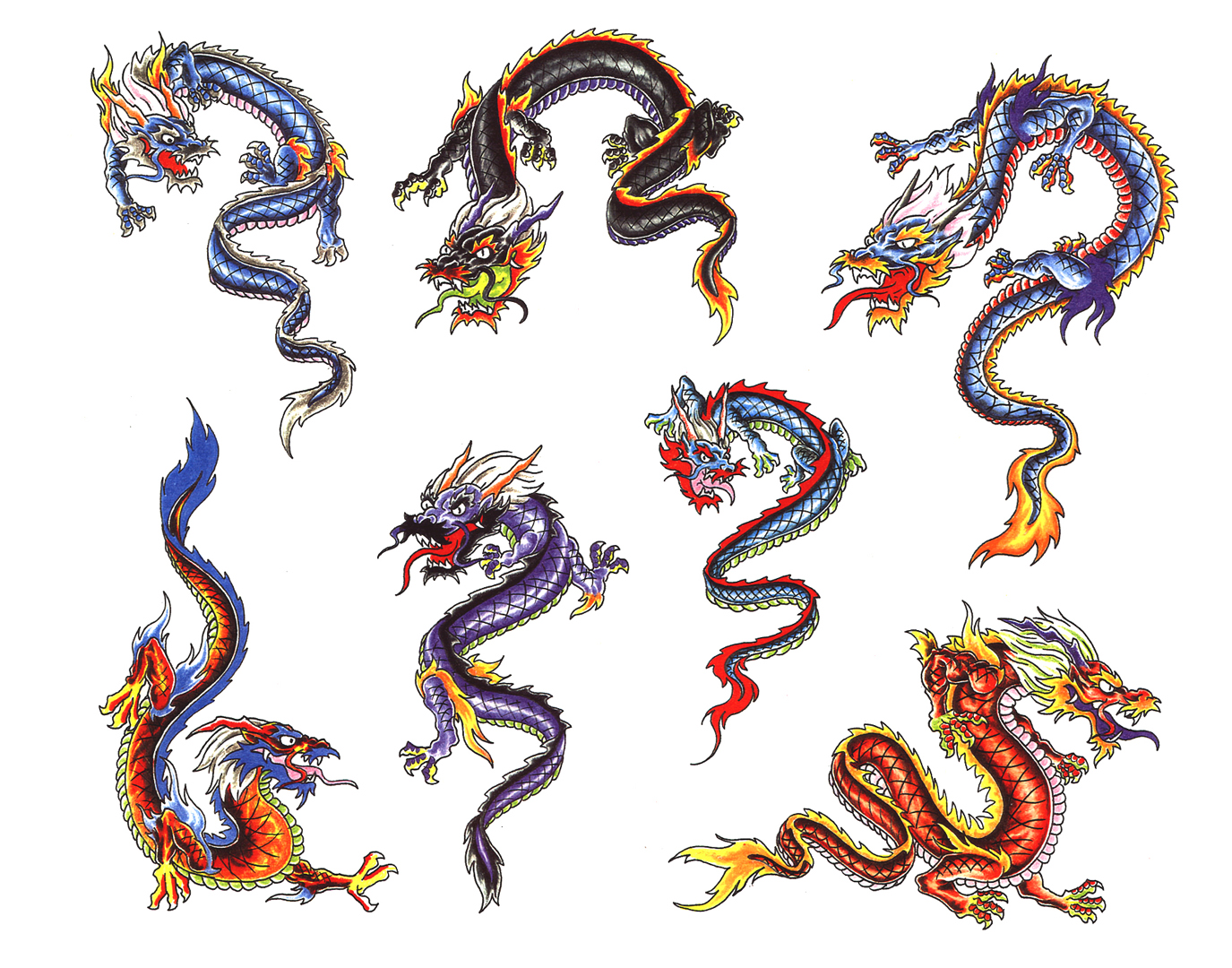 Tattoo designs dragons 090812