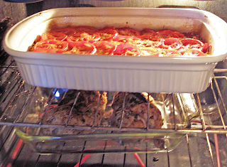 Baking Cabbage Casserole and Baked Chicken