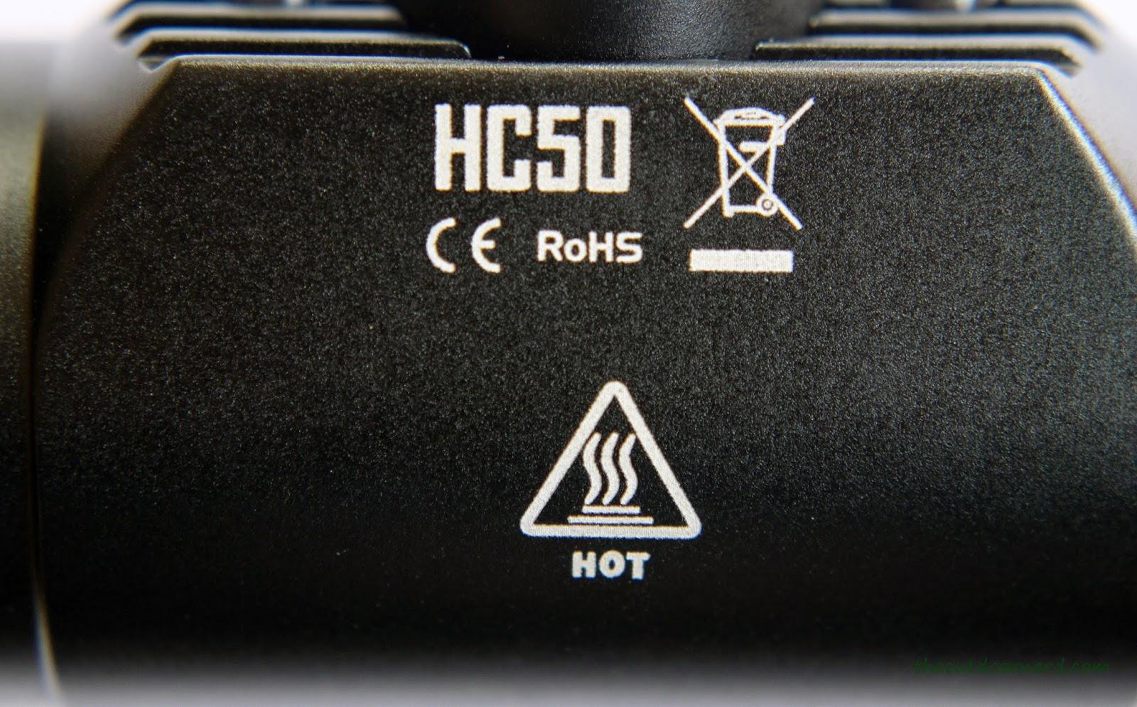 Nitecore HC50 Headlamp Logo Closeup 1