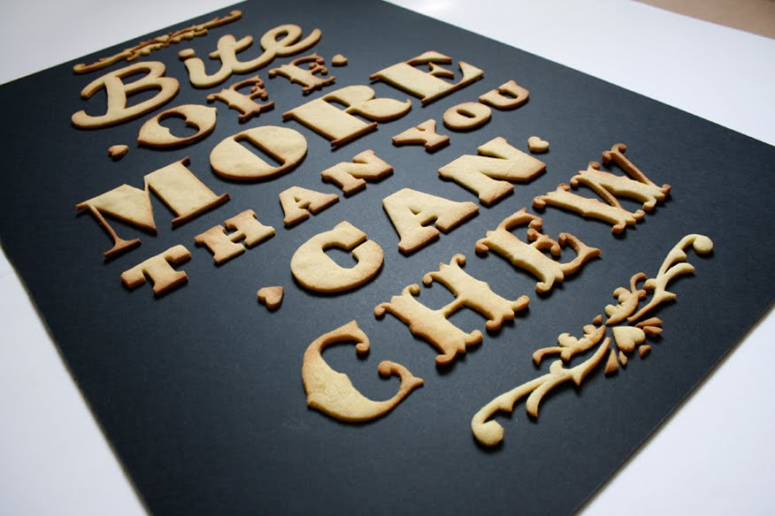 Typographic cookies