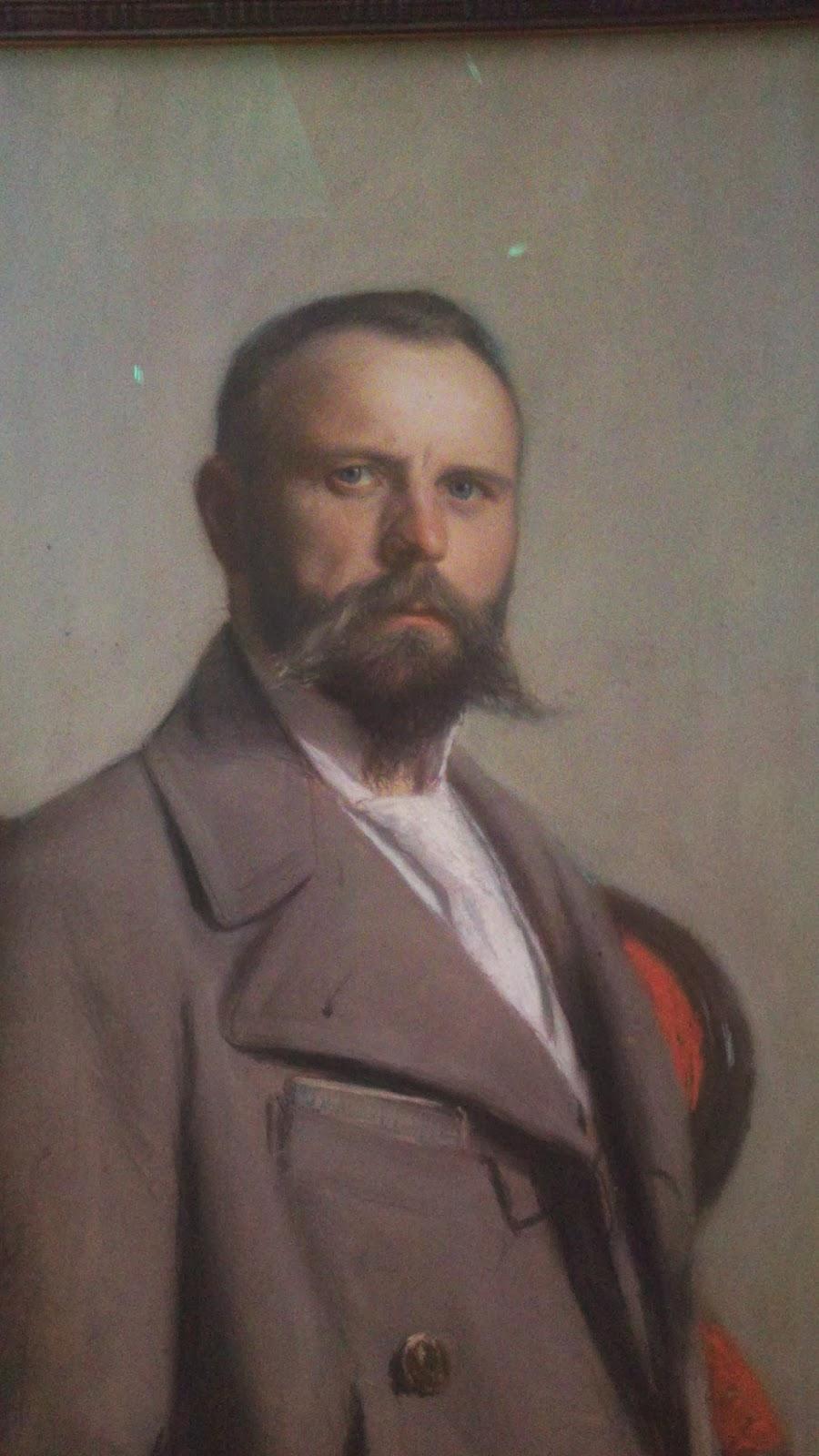 Ants Laikmaa, Autoportree (fragment maalist KUMU-s) 1902, pastell.